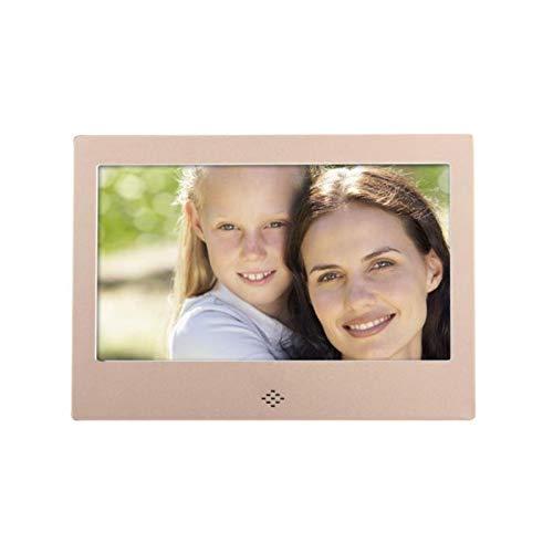 HMY Rahmen Digital 7 Zoll LCD-LED-TFT Digital Photo Frame Skylight DPF-Spieler Es ist EIN digitaler Bilderrahmen oder eine Werbung Maschine,Gold