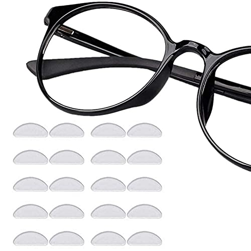 Nose Pads for Glasses Self Adhesive, 12 Pairs Stick On Soft Silicone Nosepads Non-Slip Transparent Gel Cushions 1mm Eyeglass Pads for Sunglasses Spectacles Prime