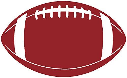 Samunshi® Wandtattoo Football Wandsticker in 8 Größen und 19 Farben (20x12,2cm dunkelrot)