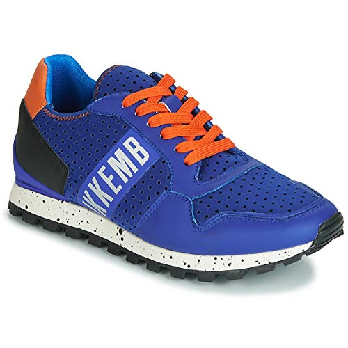Bikkembergs Fender 2404 Sneaker Herren Blau/Orange - 43 - Sneaker Low