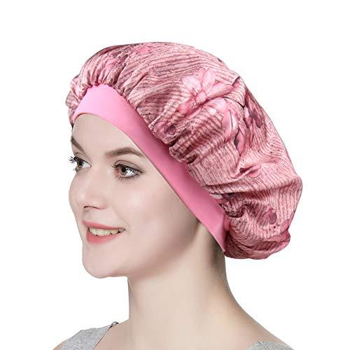 Silky Satin Sleep Bonnet Elastic Band Hair Scarf for Hair Slouchy Beanie