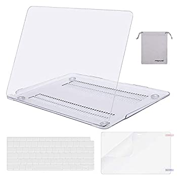 MOSISO Compatible with MacBook Air 13 inch Case 2020 2019 2018 Release A2337 M1 A2179 A1932 Retina Display Touch ID Plastic Hard Shell&Keyboard Cover&Screen Protector&Storage Bag Transparent