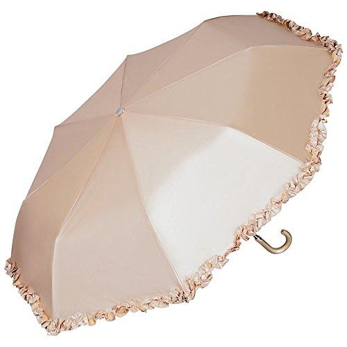 VON LILIENFELD Regenschirm Taschenschirm Damen Hochzeit Braut Rüschen Elena Bronze metallic