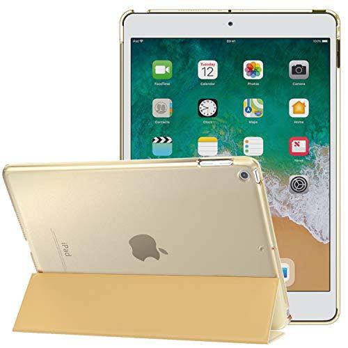 MoKo Funda para 2018/2017 iPad 9.7 6th/5th Generation - Ultra Slim Función de Soporte Protectora Plegable Smart Cover - Oro Champagne (Auto Sueño/Estela)