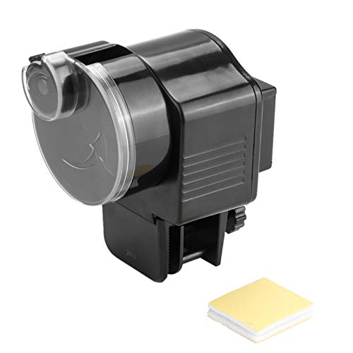 Longzhuo Alimentador de Acuario Inicio Acuario Pecera Alimentador automático de Alimentos Temporizador Negro