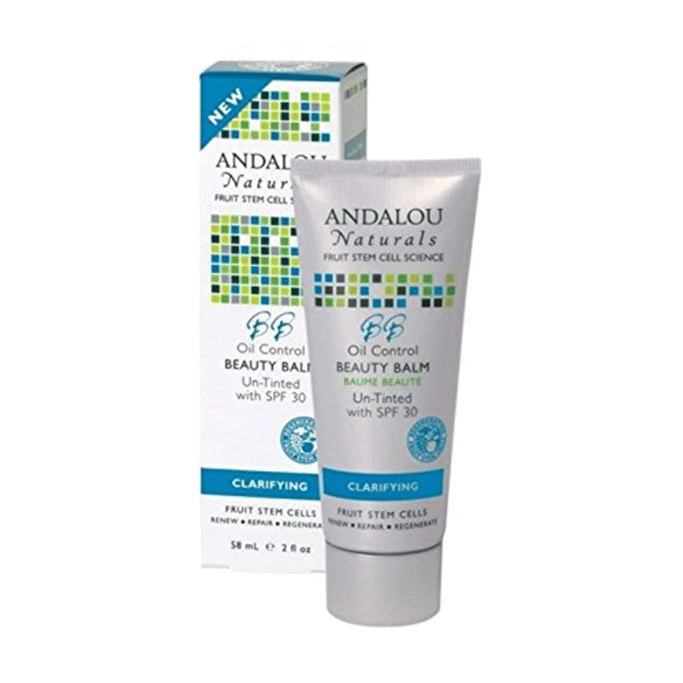 送信する肝立法Andalou Oil Control Beauty Balm Un-Tinted SPF 30 58ml (Pack of 6) - アンダロウオイルコントロール美容バーム未着色Spf 30 58ミリリットル (x6) [並行輸入品]