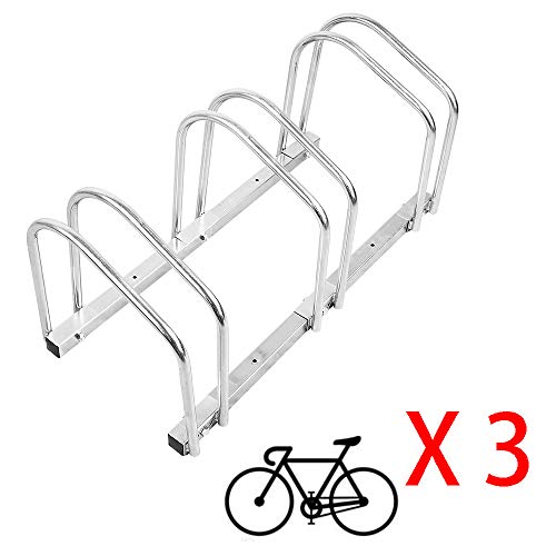 Portabici, Rastrelliera bicicletta, Tubo in acciaio zincato, adatto per l'installazione a parete o terra