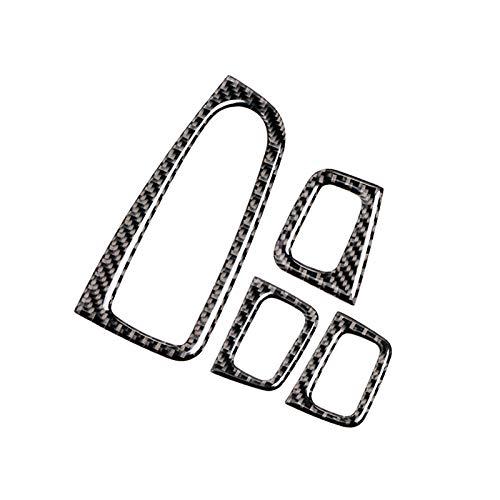 Yccmi Accesorios de la Etiqueta engomada de la Cubierta del Ajuste del Panel del Interruptor de la Ventana Interior del Coche, Apto para Mercedes Benz Clase C W205 C180 C200 C300 GLC
