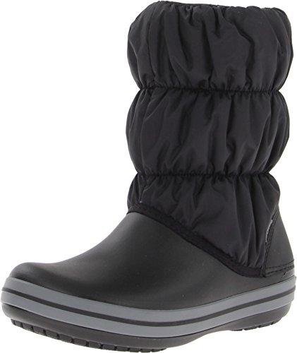 Crocs Winter Puff Boot Women, Damen Schneestiefel, Schwarz (Black/Charcoal), 39/40 EU
