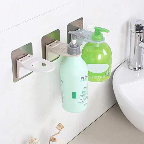 1PC Wand-Duschgel-Flaschenhalter ohne Beschädigung der Wand Große Saugküche Wasserdichtes Zubehör Häkeln für Badezimmer, dunkelgrau