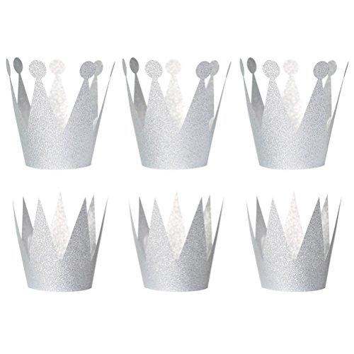 BESTOYARD - Partyhüte in Silber, Größe 6,5 x 10 cm