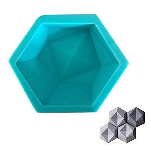 3D-Silikonform mit geometrischen Sechsecken, für Beton, Dekoration, Ton, Ziegel, Basteln, für Wände, Steine, Fliesen, Kerzenhalter, Blumentopf-Form
