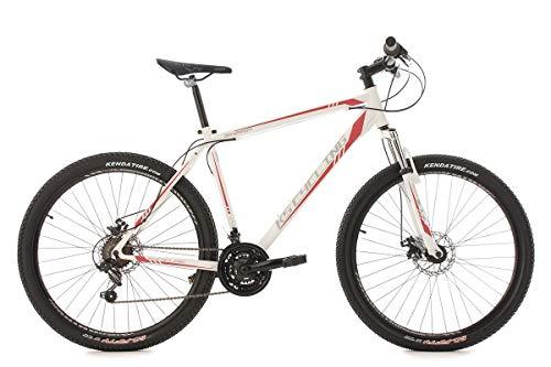 KS Cycling Mountainbike Hardtail MTB 27,5\'\' Sharp weiß-rot RH 51 cm