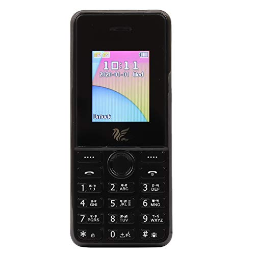IAIR Basic Feature Dual Sim Mobile Phone with 2800mAh Battery, 1.77 inch Display Screen, 0.8 mp Camera (IAIRFPD8 New, Black)
