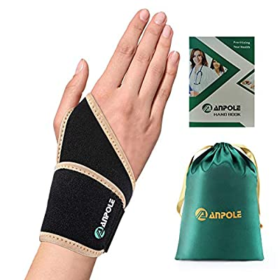Wrist Brace for Carpal Tunnel for Men and Women, 2020 New Version Premium Lined Wrist Support Brace for Sports Protecting/Tendonitis Pain Relief/Arthritis, Adjustable Fits Both Hands