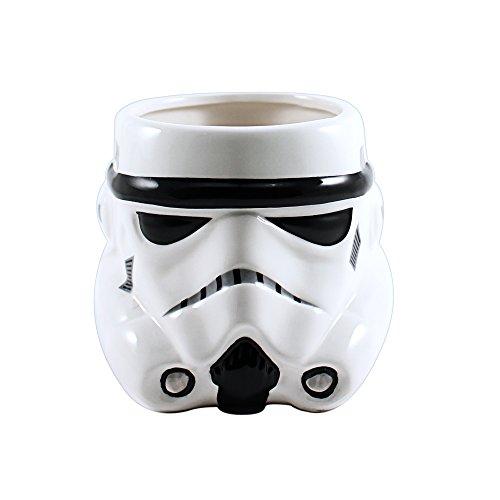 Silver Buffalo Star Wars Episodes 1-6 Storm Trooper Big Face 3D Sculpted Ceramic Mug, 20-ounces,...