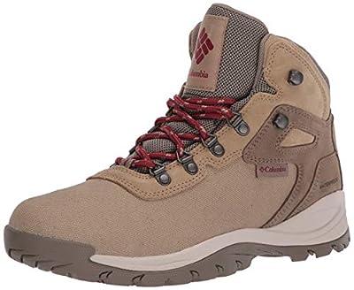 Columbia Women's Newton Ridge Lightweight Waterproof Shoe Hiking Boot, Beach/Marsala red, 11