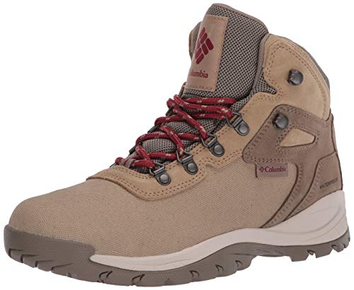 Columbia Women's Newton Ridge Lightweight Waterproof Shoe Hiking Boot, Beach/marsala red, 6