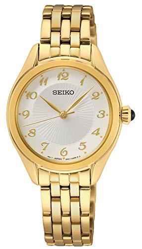 Seiko Reloj Analógico para Mujer de Cuarzo con Correa en Metal SUR384P1