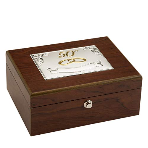 El Faro Joyero 50 Aniversario 20x15x8 Personalizada para Bodas Oro