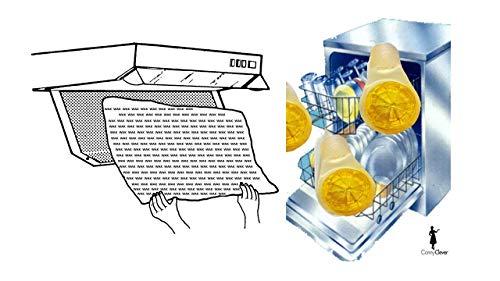 Universal Dunstfilter/Fettfilter für jede Dunstabzugshaube geeignet- zuschneidbar 47x57cm - Flachfilter - 2er Set