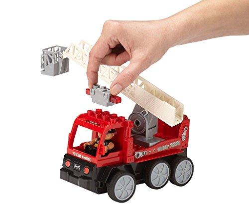 RC Auto kaufen Feuerwehr Bild 3: Revell Control Junior RC Car Feuerwehr - ferngesteuertes Feuerwehr Auto mit 40 MHz Fernsteuerung, kindgerechte Gestaltung, ab 3, mit Teilen und Figur Zum Bauen und Spielen, LED-Blinklichtern - 23001*