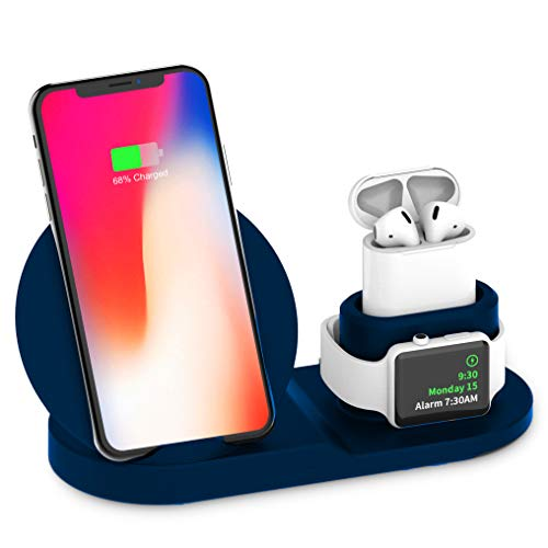 Wireless Charger,Fast Wireless Charging Stand/Pad/Dock Compatible with Apple iPhone X/XS/XR/Xs Max/8/8 Plus, Samsung Galaxy Note 8 S8 S8 Plus S7 S7 Edge Note 5 S6 Edge Plus