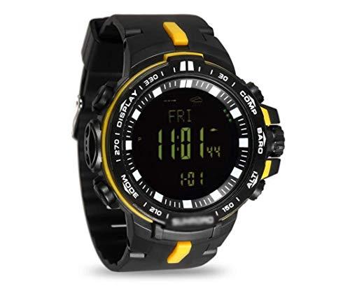 MNBVC Outdoor Digital Sport Watch Herren 5ATM Wasserdichter Höhenmesser Kompass Angeln Barometer Barometer