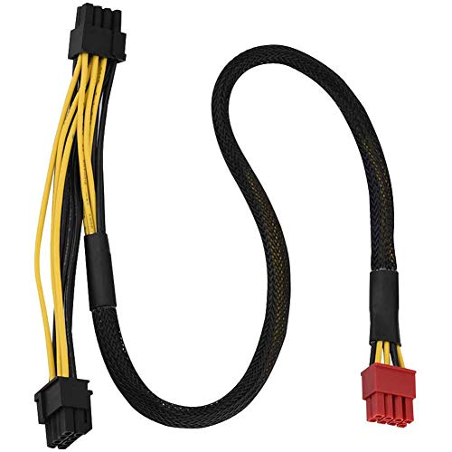 Boenxuan Grafikkarten Stromkabel, 50Cm 8-Pin Stecker Zu Dual PCI Grafikkarte Netzteilkabel PCI-E Stromadapter,Schwarz