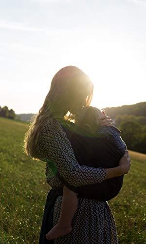 SOVERDE® Tragetuch – Babytragetuch für jede Größe I DUNKELBLAU I Inkl. Deutsche Binde Anleitung I Baby Erstausstattung - 6