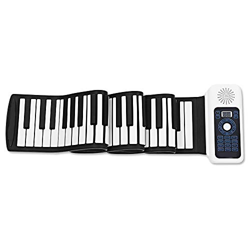 Affordable HLKYB Standard 88 Keys Portable Roll Up Piano for Kids Adults, Roll Up Keyboard Piano, wi...