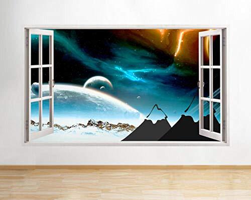 3D Wandaufkleber Berge Planeten Coole Kinder Fenster Wandtattoo 3D Kunst Aufkleber Vinyl Zimmer
