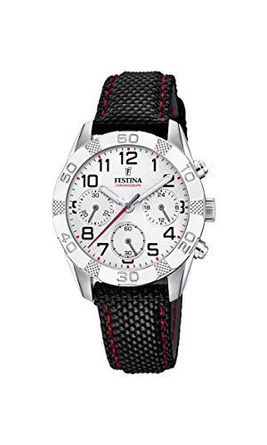 Festina Jungen Chronograph Quarz Uhr mit Stoff Armband F20346/1