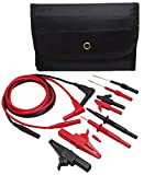 TestHelper TH-6-KIT Automotive Test Lead Kit, Test Probes,Flexible Silicon Back Probe pins,Shielded Alligator Clips and Large Crocodile Clips,Multimeter Clamp Meter