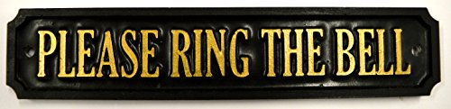 'Veuillez Bague The Bell' plaque de porte/panneau – Résine moulé à la main Fabriqué au Royaume-Uni.