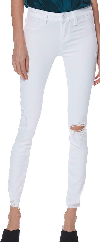 PAIGE Women's Jean Verdugo Ankle Vivid White Destructed HIGH Rise Skinny Jeans 1844E78 6342