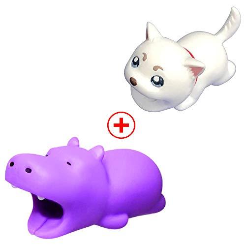 Holeider Telefon-Ladekabel schützt Zubehör Tier Cute Handyhülle Kabel Biss für iPhone Kabel Schnur Handy-Ladeleitung Schützt vor Biege-Pause (H+H)