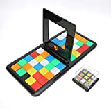 Magic Block Game Mixed Colors Square Shifting Board Game Interactive Race Board Cube Puzzle Blocks para Niños Adultos
