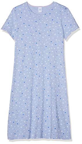 Sanetta Mädchen Sleepshirt Short Nachthemd, Blau (Oxford Mel 50252), 140