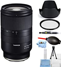 $989 » Tamron 28-75mm f/2.8 Di III RXD Lens for Sony E A036 Starter Bundle with Tulip Hood Lens, UV Filter, Cleaning Pen, Blower, Microfiber Cloth and Cleaning Kit [International Version]