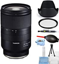 Tamron 28-75mm f/2.8 Di III RXD Lens for Sony E A036 Starter Bundle with Tulip Hood Lens, UV Filter, Cleaning Pen, Blower, Microfiber Cloth and Cleaning Kit [International Version]
