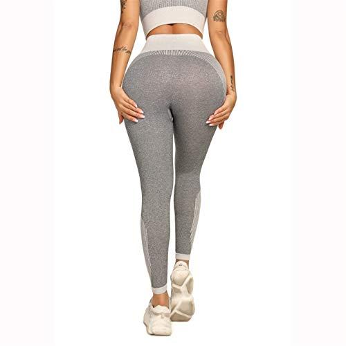 TXXT Pantalones de Yoga Leggings sin Fisuras con Cintura Alta, Gimnasio Fitness Pantalones de Yoga Pantalones de Yoga Pantalones de Punto Levantamiento de Tope Transporte Elástico Medias Polainas