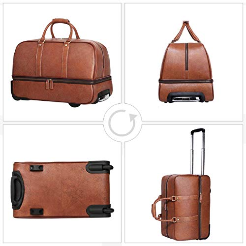 Leathario Reisetasche aus Rindsleder – Trolley - 3