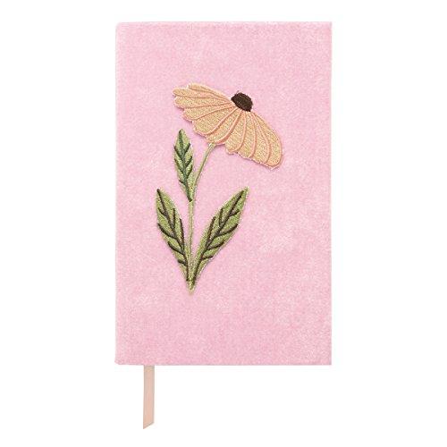 C.R. Gibson J19-20866 Tagebuch aus Kunstleder, mit gestickten Blumen, bedruckte Kanten, Lesezeichen, 320 linierte Seiten, Maße: 12,7 x 21,1 cm