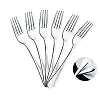 mr. spoon minimal collection set di posate da portata in acciaio inossidabile - 6 forchette da tavola in acciaio inossidabile 20 x 2,65 cm