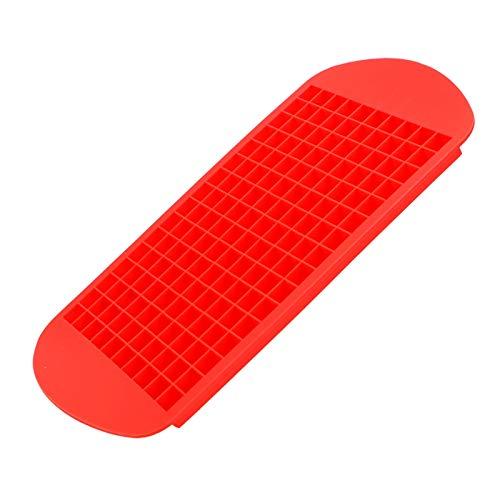 JIEGEGE Bandeja de Hielo, cuadrícula de bandejas de Cubo 1x1cm Fabricante de Frutas de Silicona Creativo Molde pequeño Forma Cuadrada Accesorios de Cocina (Color : Red)