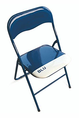 Galileo Casa 2403882 Color Chair, Lot de 6 chaises Pliantes, PVC, Couleur Bleu