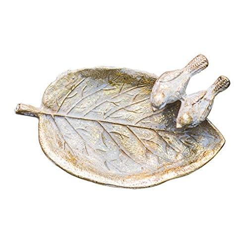 markc Cenicero para interiores y exteriores, cenicero para puros, decoración de aves con hojas de hierro fundido vintage, pastoral europea, regalos para familiares y amigos, regalos para el padre, cen
