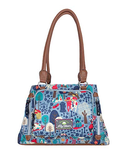 Lily Bloom Maggie Satchel Handbag (Who Let The Dogs Out)