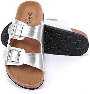 Seranoma Women's Comfortable Cork Sandals - Casual Slide Spring/Summer